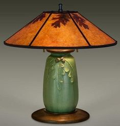 MISSION OAK Ephraim Pottery Lamp from The Mission Motif