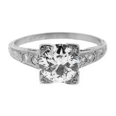 Antique Old European Cut Diamond & Platinum Ring
