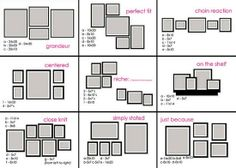 I really need this diagram. I have tons of empty wall and photos in frames. I had no idea where even to start!