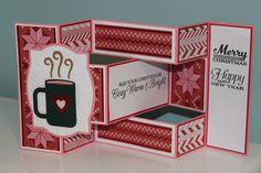 Coffee Mug Tri-Shutter Christmas Card