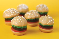 Father's Day recipe:  Burger Bites....pretty much made with brownies and cupcakes, and melted chocolate...ooh, good stuff.   But be warned...this looks like a bit of a project (let me know if I'm wrong).