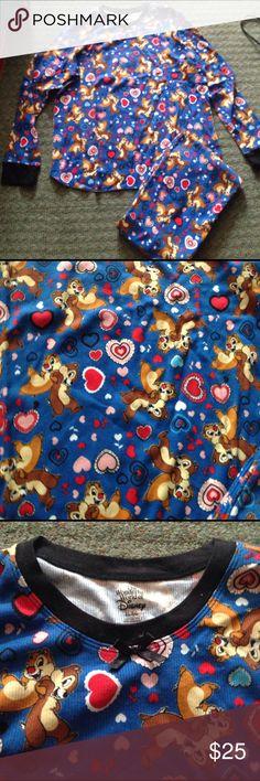 Disney chip and Dale juniors pajama set Sz XL new Never worn. 100% cotton Disney Intimates & Sleepwear Pajamas