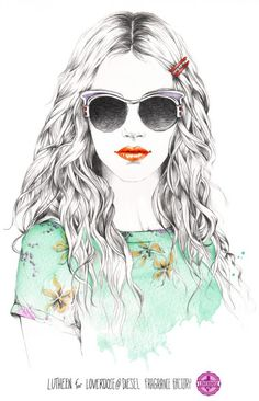 Fashion Illustrations by French illustrator Lutheen.