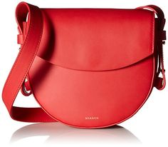 Skagen Lobelle Leather Saddle Bag, Lotus