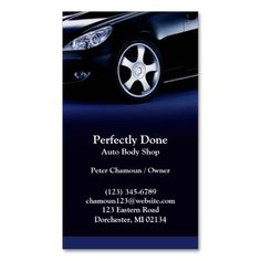 Auto Body Shop Business Card