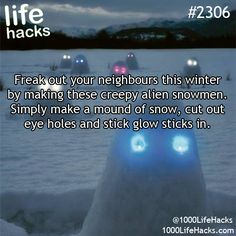 Creep your neighbors out with this idea