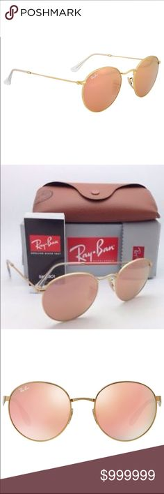 Looking to trade for- Ray Ban round copper glasses ISO authentic Ray Ban round copper (pink) sunglasses. I would prefer to trade for these. Depending on the condition of the glasses I will trade multiple items in my closet for them. Thanks! Ray-Ban Accessories Sunglasses