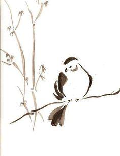 Sumi e Bird