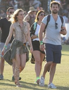 Time to party: The couple were seen strolling around the Empire Polo Club as they checked ...