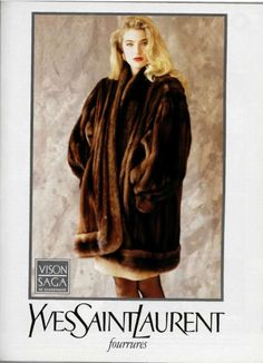 1988-89 - Yves Saint Laurent fourrures adv