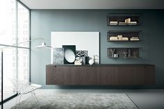 shop@coro.it  Zampieri - #Fifty living in sanded burnt oak with metal finished metal-made elements.