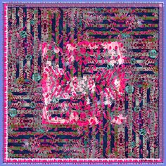 A burst of impressionist color in pink and lavender, made from a silk satin fabric. Part of Irène's classic collection with original prints Silk Satin Fabric, Neckerchiefs, Paris, Classic Collection, Top Pattern, Pink Tops, Graphic Prints, Irene, Women Accessories