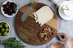 DIY Celestial Wood and Brass Inlay Serving Board – Design*Sponge
