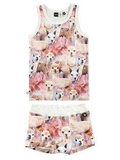 Molo Girls Joshlyn Lovely Llama Pyjamas Set Llama Pajamas, Llama Llama, Llama Gifts, Kid Closet, Alpacas, Nerd Geek, Pjs, Kids Clothing, Pajama Set