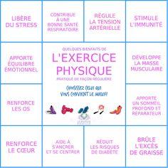 Quelques Bienfaits de l'Exercice Physique | SPORT Le Monde s'Eveille Grâce à Nous Tous ♥