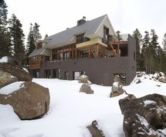 Boulders, as well as rock walls, add winter interest to landscapes