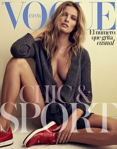 Edita Vilkeviciute for Vogue Espana Vogue Magazine Covers, Fashion Magazine Cover, Fashion Cover, Vogue Covers, Casual Chic, Vogue Photoshoot, Edita Vilkeviciute, Dior, Vogue Spain