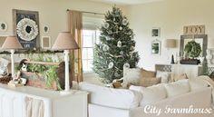 ***lamps, rustic wood elements, white***   Christmas Housewalk 2012- Stop #13 - City Farmhouse