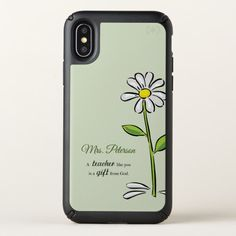 Personalize Teacher Thank You Religious Flower Speck iPhone X Case Custom Brandable Electronics Gifts for your buniness #electronics #logo #brand