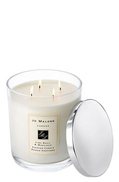 Love unwinding to this lime basil & mandarin candle. The alluring scent envelops a room and lingers for hours, creating an ambiance of warmth and relaxation.