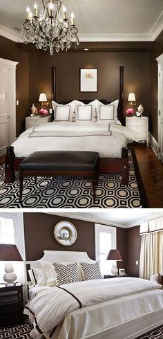 Chocolate brown bedroom: PALOMA DESIGNS