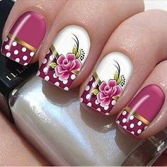 """trendy easy nail art designs 2016 Next time you're in the mood for nail art, Also known as """"party nails,"""" sometimes they're the best way to play with nail art if you're too lazy to do all ten fingers. Nail Art Designs 2016, Simple Nail Art Designs, Easy Nail Art, Cute Nails, Pretty Nails, Vintage Nail Art, Finger Nail Art, Latest Nail Art, Manicure E Pedicure"""
