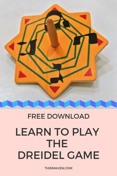 Learn how to play the dreidel game. It is a widely popular Hanukkah custom to share with family and friends. Download the dreidel game instructions. #Hanukkah #Dreidels