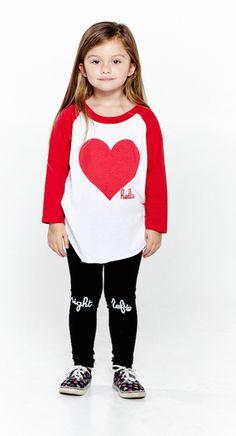 Hello Red Heart Raglan Tee Raglan Tee, Sweatshirts, Heart, Tees, Sweaters, Jackets, Collection, Fashion, Down Jackets