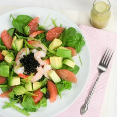 Shrimp, Avocado and Pink Grapefruit Salad | The Healthy Foodie