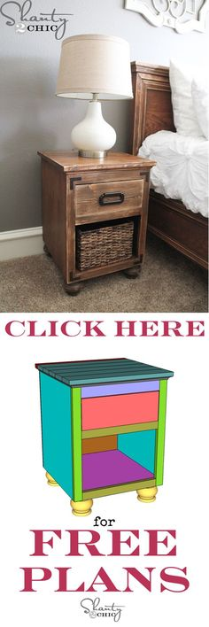 DIY Modern Creative Nightstand | DIY Nightstand with Bun Feet by DIY Ready at http://diyready.com/17-creative-and-cheap-diy-nightstands/