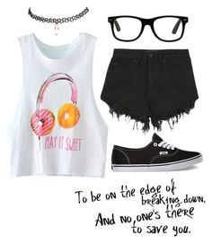 """Welcome to My Life"" by nutelligence ❤ liked on Polyvore featuring Wet Seal, Nana Judy and Vans"