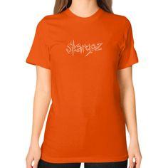 Unisex T-Shirt (on woman), 'Skargoz Logo'