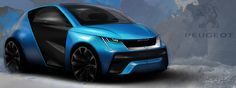 Peugeot City Car Sketch - Constantin Sohier