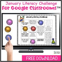 Free Reading and Writing activities for the month of January!  January Literacy Challenge has reading and writing activities students can complete at school, home or a combination of both.  Choose