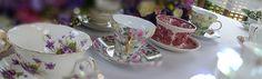 Vintage Crockery - Fleur de Lys event hire.
