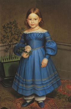 Unknown American Artist - American Folk Art Painting Portrait by Unknown Artist - Rosa Heywood 1840 - 26 x 17 Approximate Original Size in Inches Painting. I once owned this and I let it get away. What was I thinking? Primitive Painting, Primitive Folk Art, Primitive Decor, Art Populaire, Naive Art, Stretched Canvas Prints, American Artists, Vintage Children, Art Prints