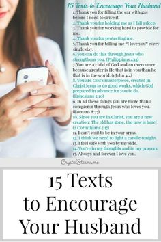 Texts to Encourage Your Husband Need some ideas to build up your man? Here are 15 Texts to Encourage Your HusbandNeed some ideas to build up your man? Here are 15 Texts to Encourage Your Husband Godly Wife, Godly Marriage, Marriage Goals, Marriage Relationship, Happy Marriage, Marriage Advice, Love And Marriage, Healthy Marriage, Dating Advice