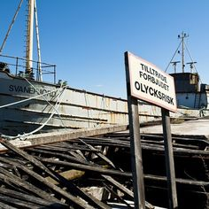 An old boat and a broken bridge #boat #bridge #landscape #nature #photography $11.95