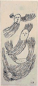 Louise Bourgeois - Untitled, 1946 -  ink on paper.