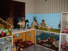 American Girl dollhouse rooms...48 wide by 28 tall by 28 deep