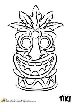 Coloriage de Tiki rigolo