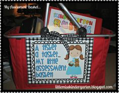 Little Miss Kindergarten - Lessons from the Little Red Schoolhouse!: A Tisket A Tasket! Grab it and go...