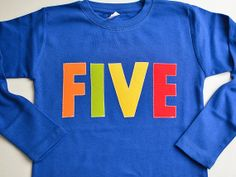 Primary Color Birthday Shirt Kids Choose Age by TheColorfulYears, $28.00