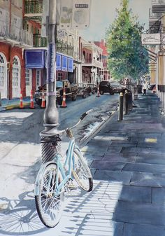 Big Easy Ride by Catalina O. Rankin.  Watercolor on Paper