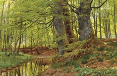 Peder Mørk Mønsted (1859 — 1941). In the Woods, 1891. Oil on canvas. Danish