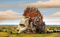 Dream World Revealed on Canvas - 21 Mind Blowing Paintings by Jacek Yerka. Follow us www.pinterest.com/webneel