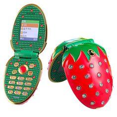 ... Клубника Форма разблокирована женщины дети девушка мило мини небольшой  мобильный телефон N18 P262 в категории Мобильные телефоны на AliExpress.  бундель ... eaa360db437