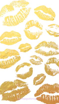 Gold white lips pout iphone phone wallpaper background lock screen