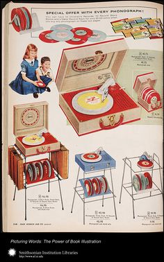 Sears Christmas Book   Sears, Roebuck & Company   Chicago: 1956 - p. 248 Children's record players