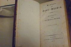 Children's and Household Tales, 2 volumes. Berlin 1812-1815. Jacob and Wilhelm Grimm.(Deutsche Historisches Museum)